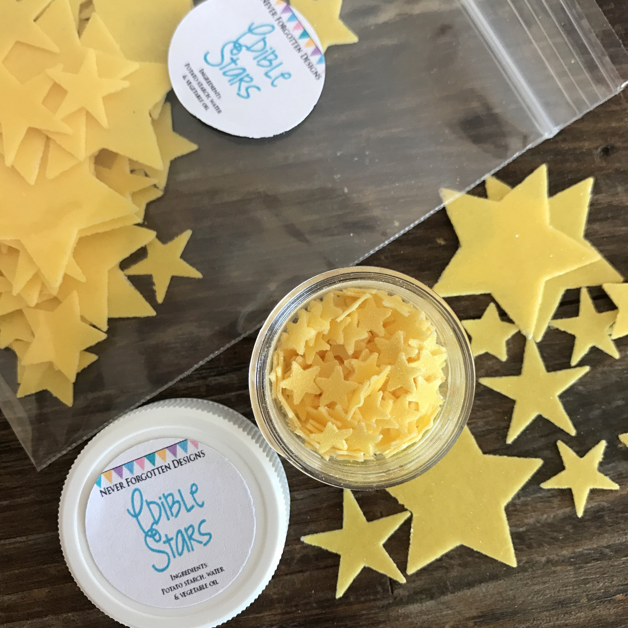 Edible Mini Stars Fun Food Sprinkles