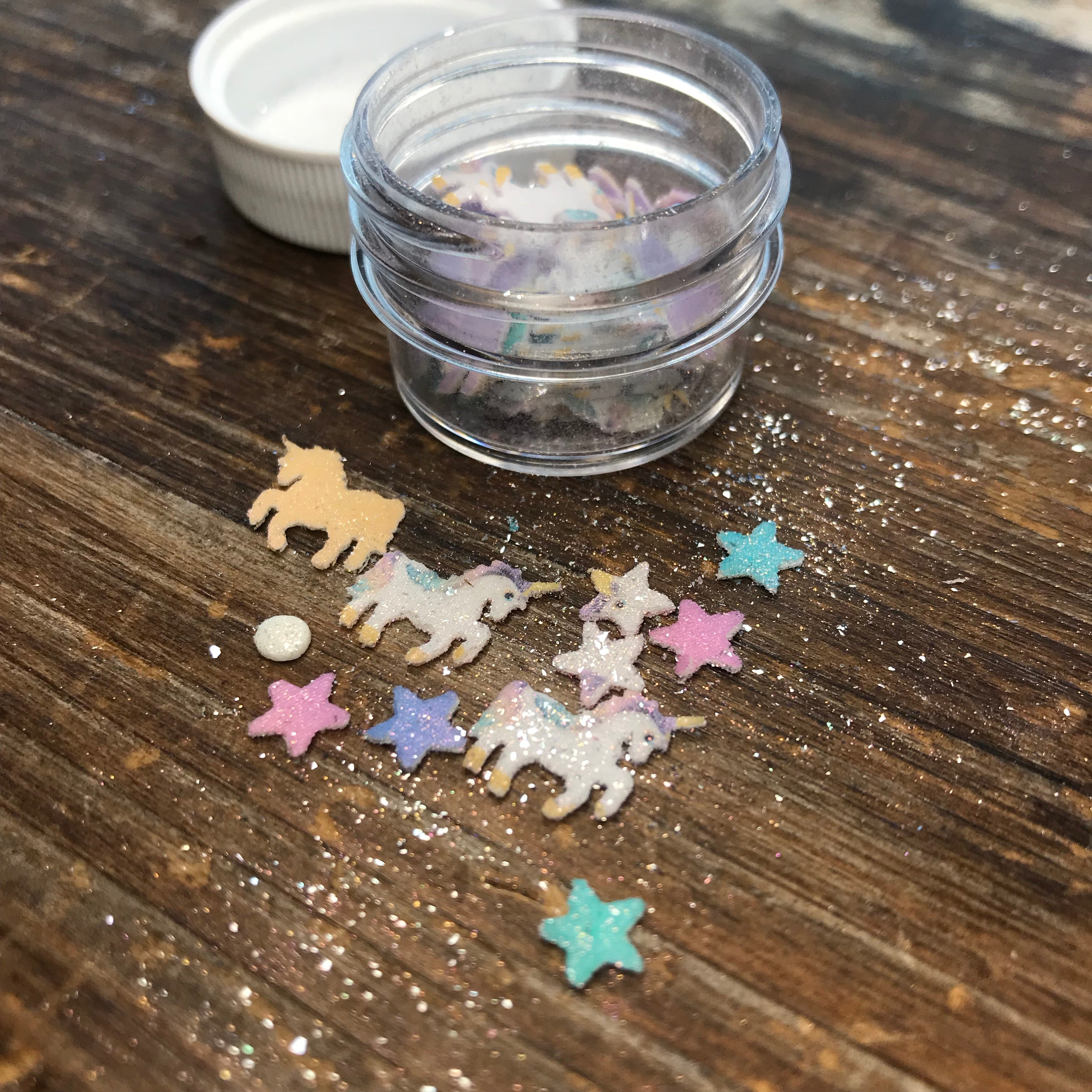 Edible Unicorn & Star Glitter Fun Food Sprinkles© by Never Forgotten Designs