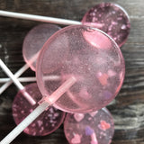Custom Strawberry Magic Lollipops