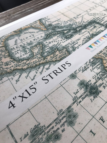 Custom Edible Image Vintage Nautical Map Atlas Cake Wraps