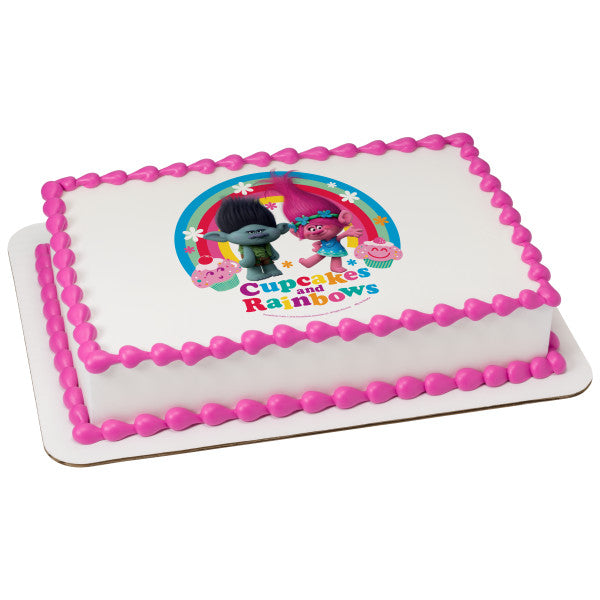 Officially Licensed Trolls Edible Cake Image Toppers