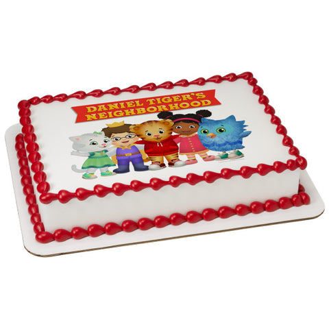 Officially Licensed Daniel Tiger's Neighborhood® Friends Edible Cake Image Toppers