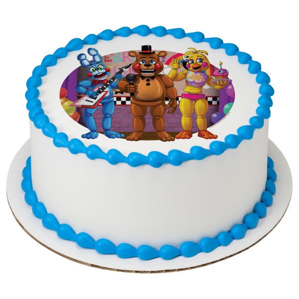 Officially Licensed Five Nights at Freddy's Edible Cake Image Toppers