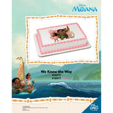 Disney Moana Movie Edible Cake Topper on Frosting Paper