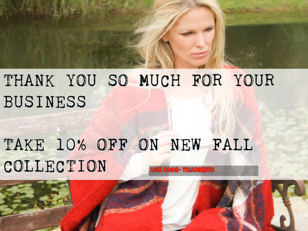 Fall Collection 10% off sale, coupon