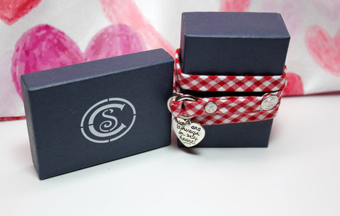 Red Gingham w/ Love Charm - CottonSnaps
