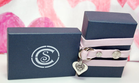 Solid Light Pink w/ Love Charm - CottonSnaps