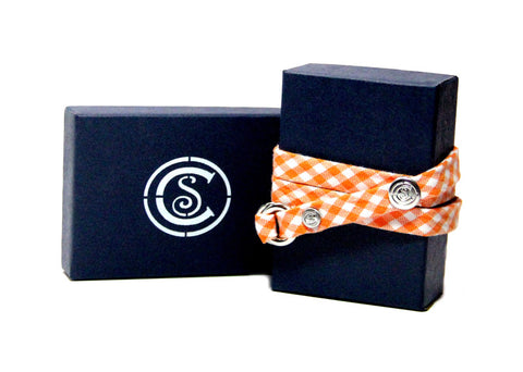 Orange Gingham - CottonSnaps