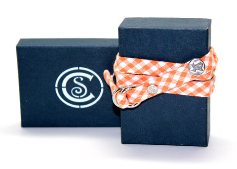 Texas Orange Gingham - CottonSnaps