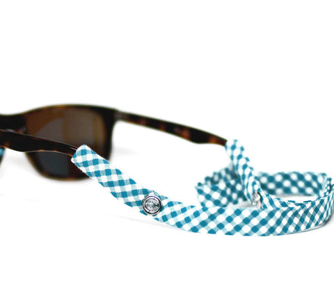 Turquoise Gingham - CottonSnaps