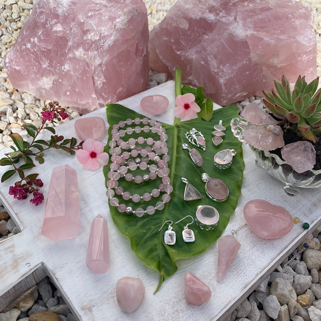 Rose Quartz Gemstones and Crystals Inspired By 3 Australia
