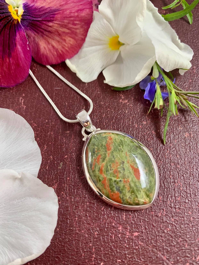 Unakite and Silver Chain SALE Inspired By 3 Australia