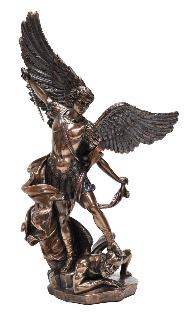 Archangel Michael stepping on demon - Protection