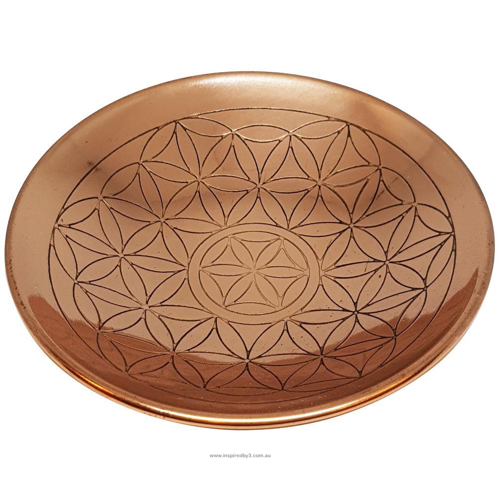Copper Plate - Flower of Life Inspired By 3 Australia