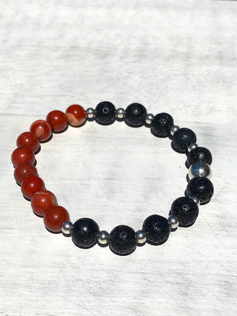 Grounding Bracelet - Red Jasper - Root & Sacral Chakra