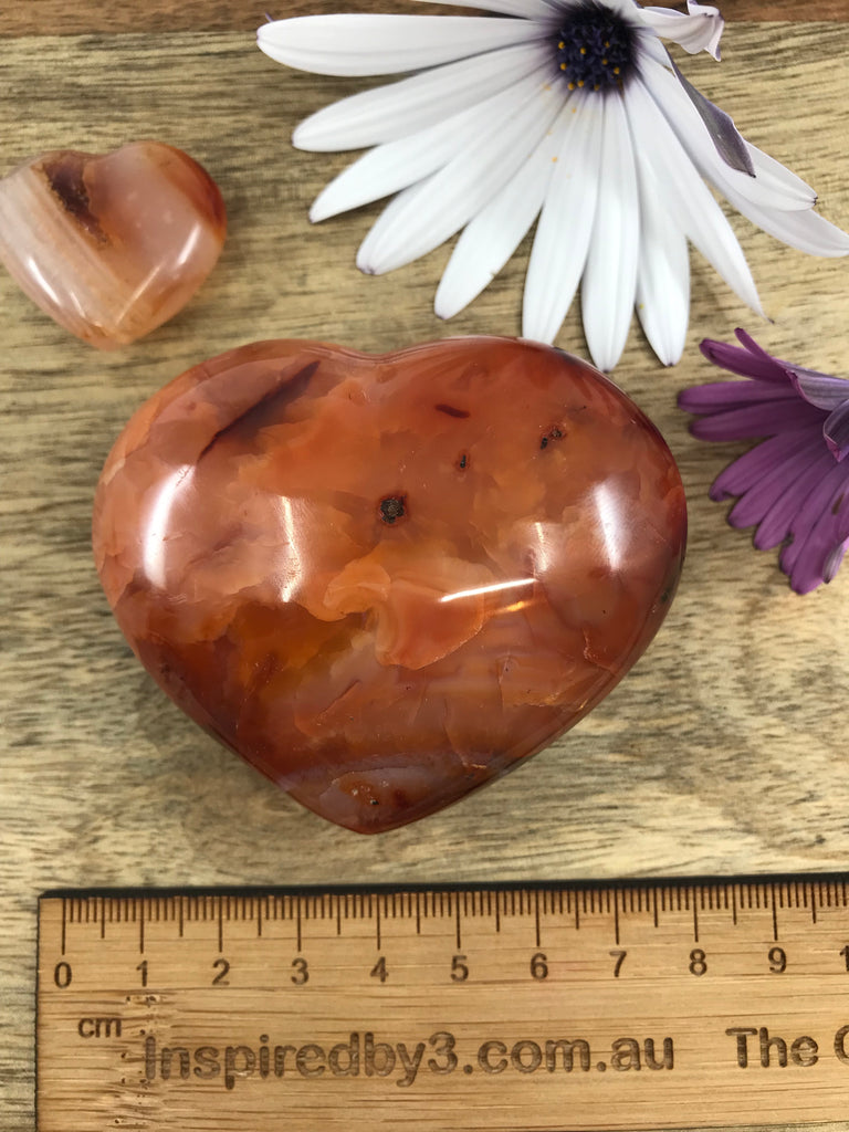 Medium Carnelian Heart on Sale at Inspired By 3 Australia