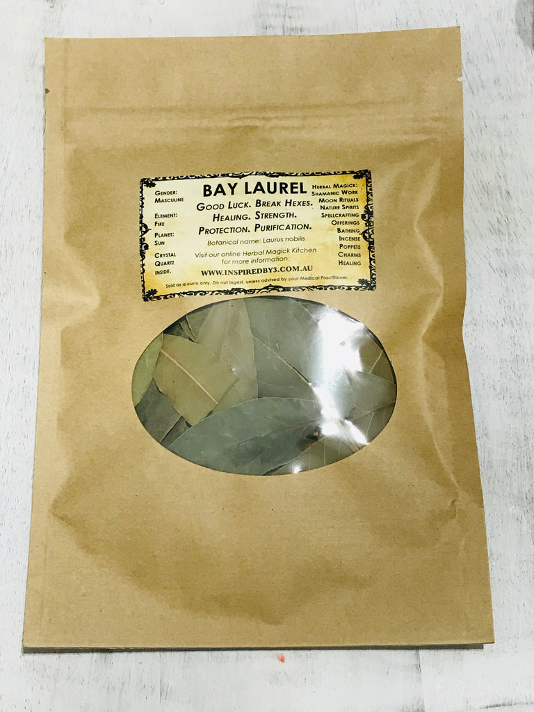 Bay Laurel Large Leafs- Good Luck. Break Hexes. Healing. Strength. Protection.