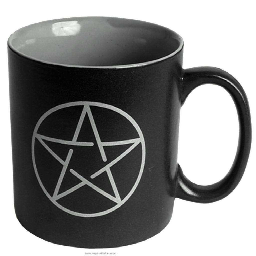 Pentacle Black Mug Cup Inspired By 3 Australia