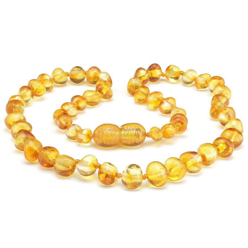 Rounded Polished Baltic Amber Teething Necklace ~ 32cm/12.5inch