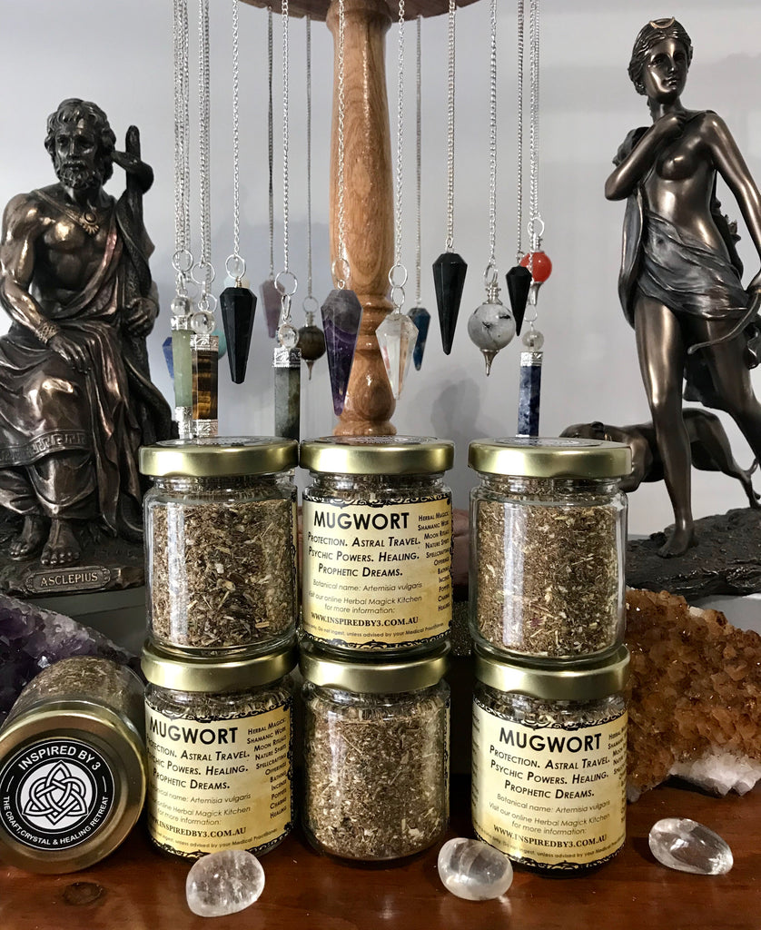 Mugwort - Sleep, Rest, Consecration, Strength. Psychic Dreams, Clairvoyance & Protection.
