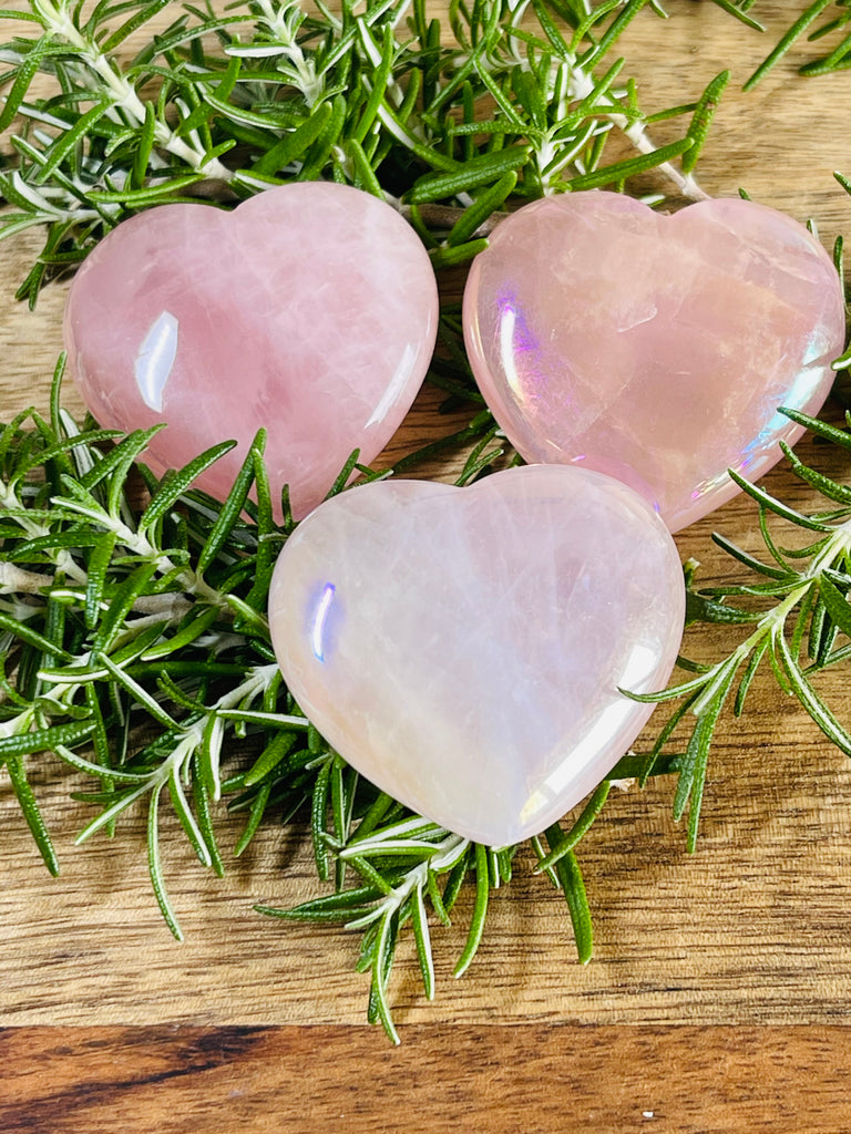 Rose Quartz Aura Heart - Love. Stress.