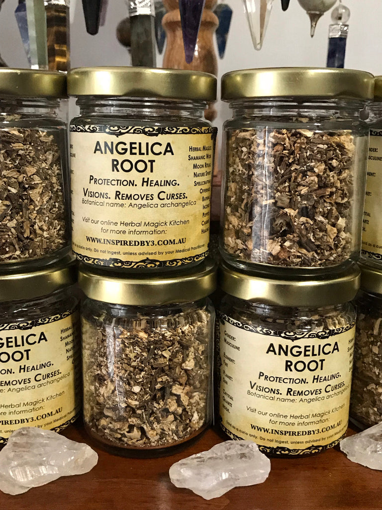 Angelica Root - Visions, Protection. Healing. Removes Curses.