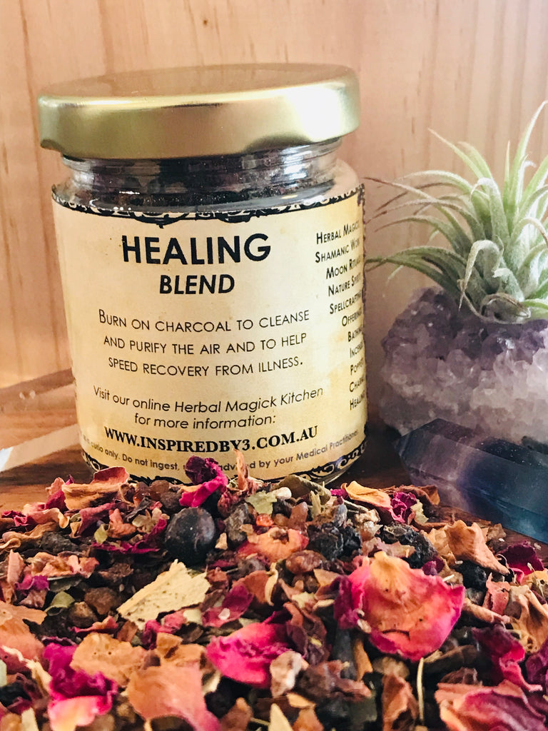 Healing Herbs & Resins Incense 50g - Helps Speed Healing