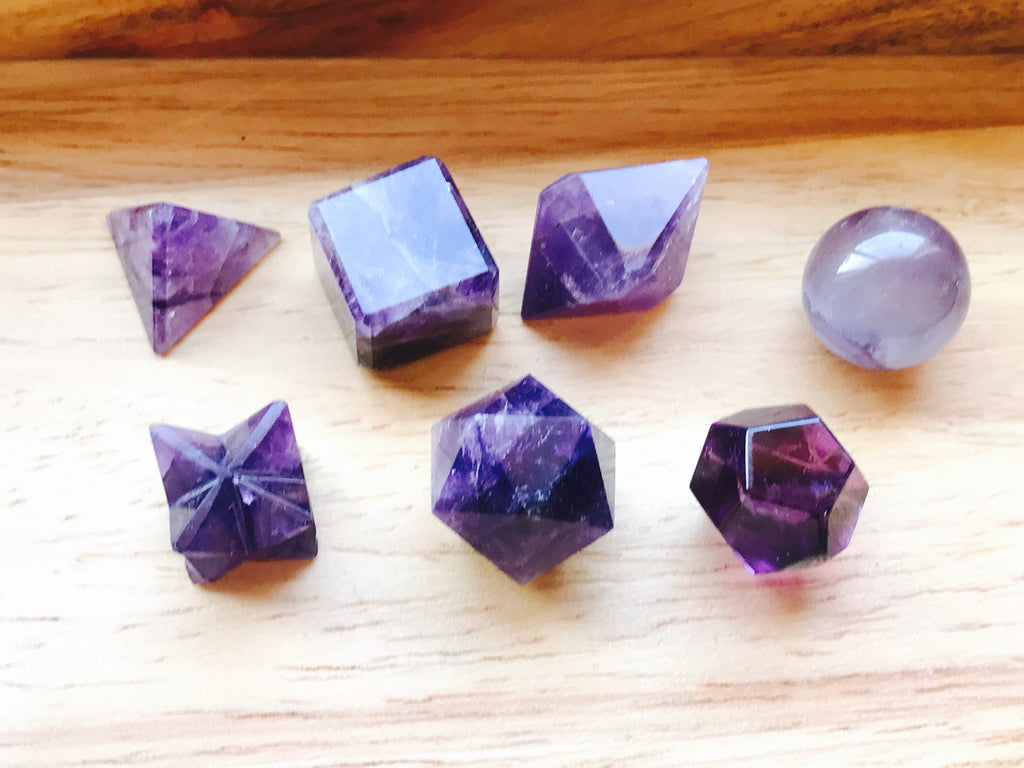Amethyst Sacred Geometry Set - Inspired By 3 Australia - ON SALE