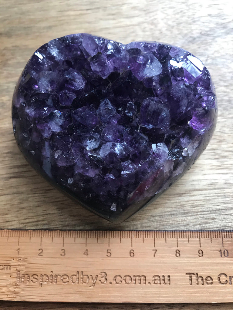 Amethyst Cluster Heart Dark Purple 390g