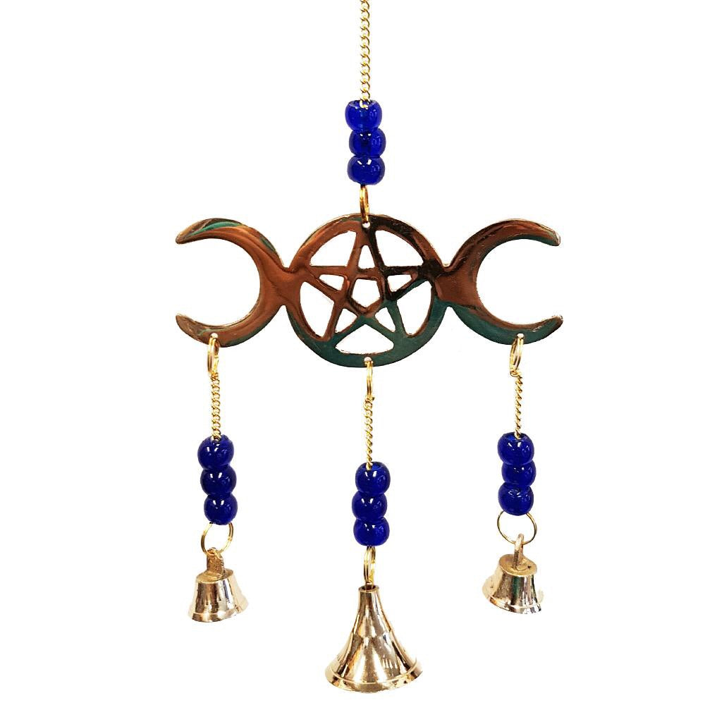 Triple Moon Brass Hanging with 3 Bells Inspired By 3 Australia