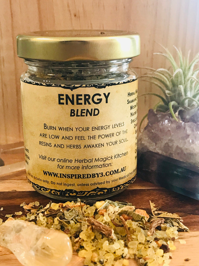 Energy Resin & Herbs Incense Blend  - Burn to Increase Energy Levels. Inspired By 3 Australia