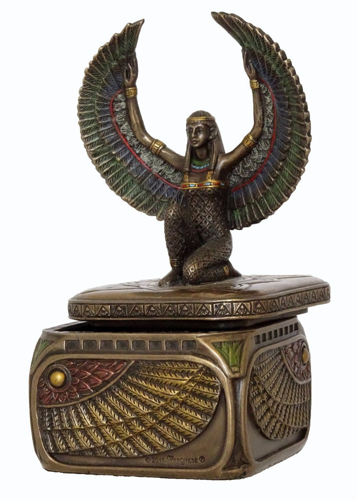 Goddess Isis Trinket Box - Goddess of Marriage, Fertility, Magic & Medicine.