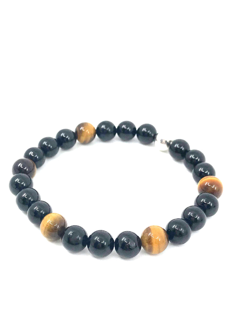 Tiger Eye & Black Tourmaline  - Protection & Strength