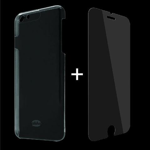 Ahha Pozo Tempered Glass & Clear Case for iPhone 6/6S Plus