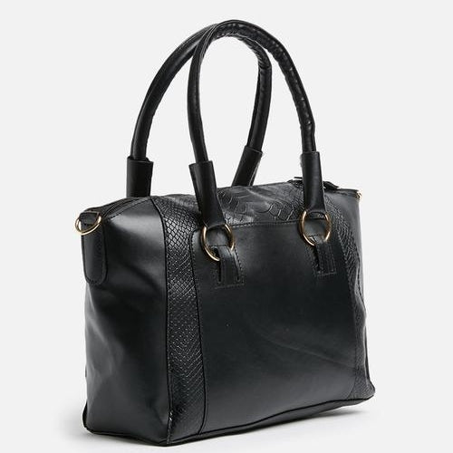 Zia Trapeze Big Black Purse