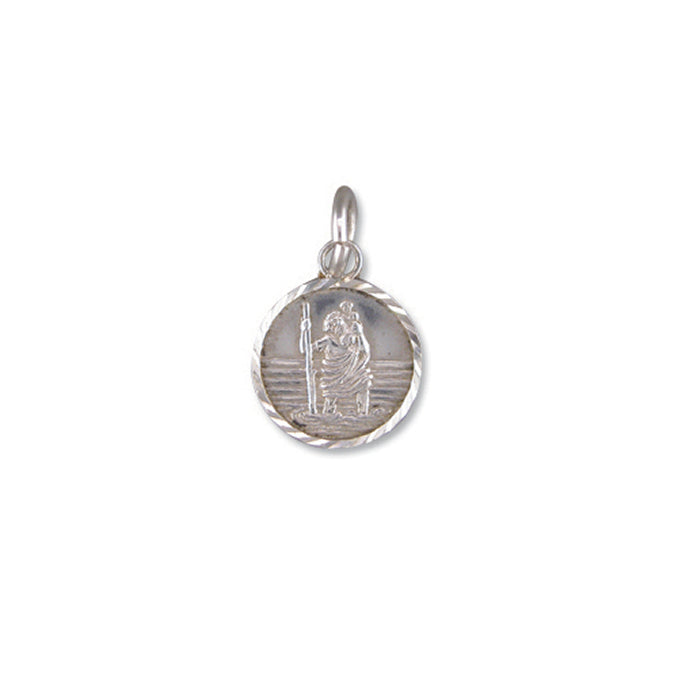 Silver St. Christopher and Chain complete with presentation box
