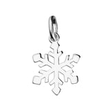 Silver Snowflake pendant and chain complete with presentation box