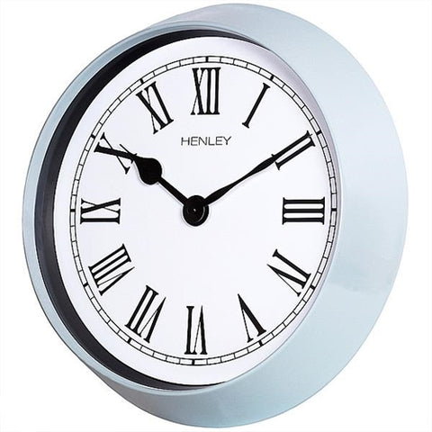 Pebble Grey Finish Round Wall Clock, 1 Year Guarantee