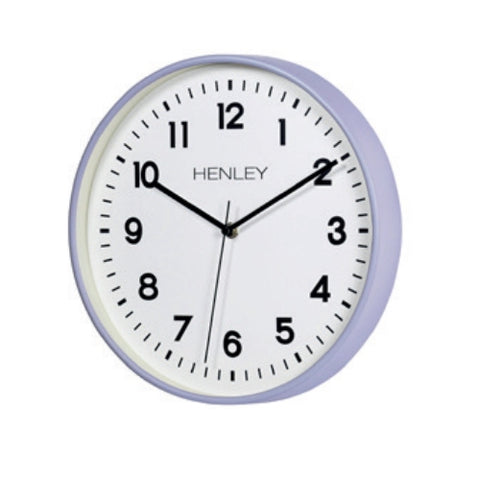 Grey Finish Round Wall Clock, 1 Year Guarantee