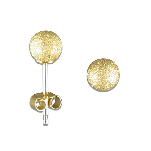 9ct Gold textured ball stud earrings complete with presentation box