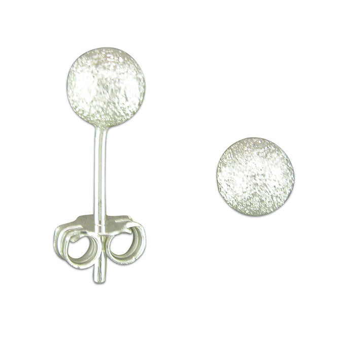 Silver Textured ball stud earrings complete with presentation box