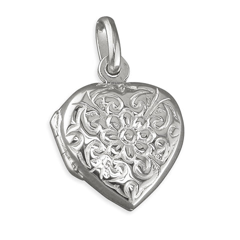 Silver Locket and Chain complete with presentation box