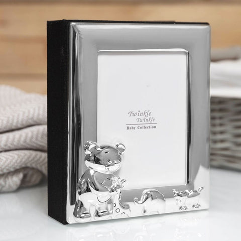 Silverplated 3.5inch x 5inch / 9cms x 12cms Babies Photo Frame and Album