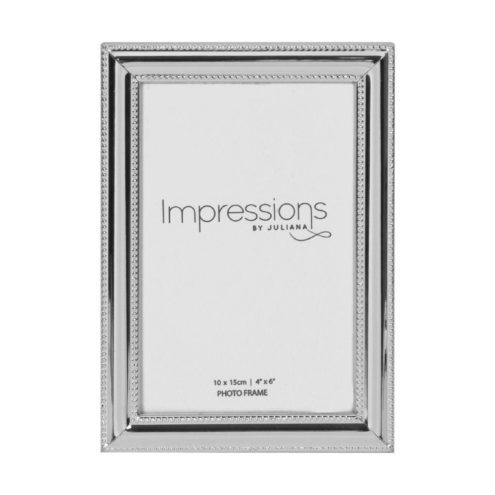 Silverplated 4inch x 6inch / 10cms x 15cms Photo Frame
