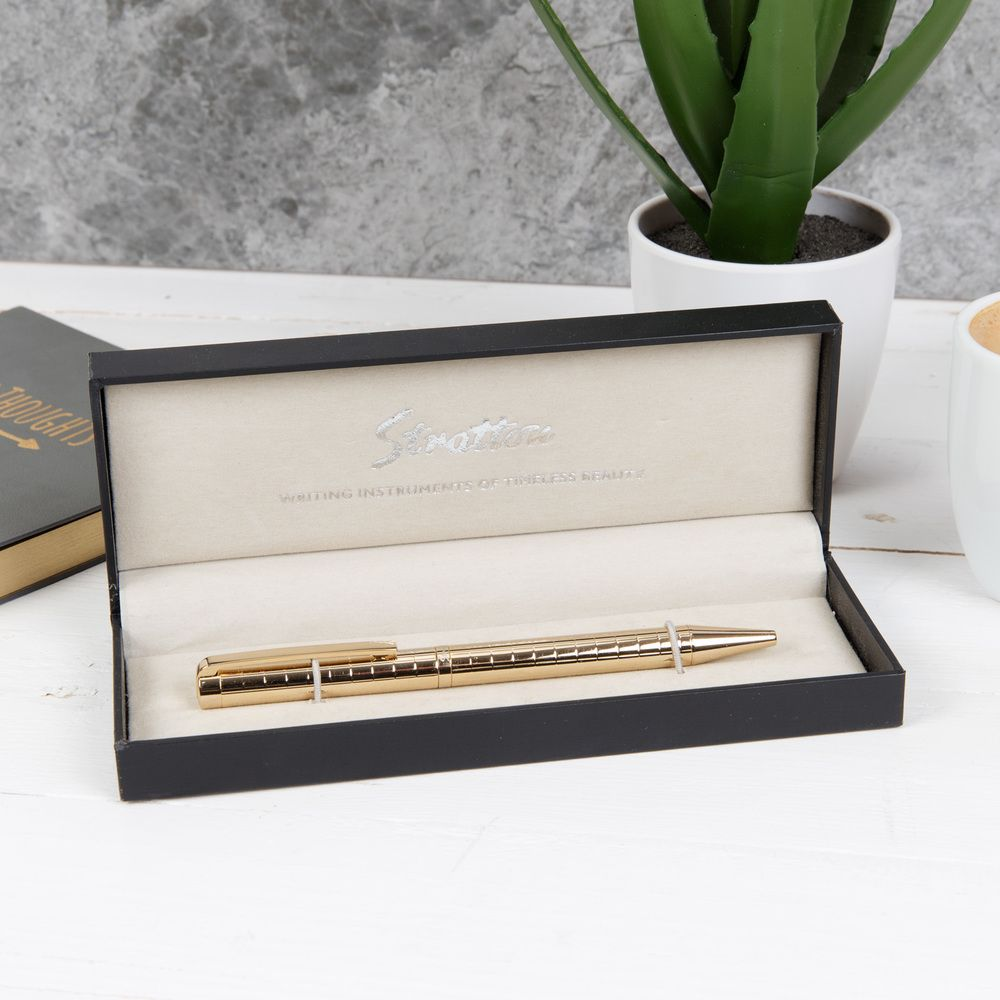 Stratton Gold Ballpoint Pen complete with Gift Box