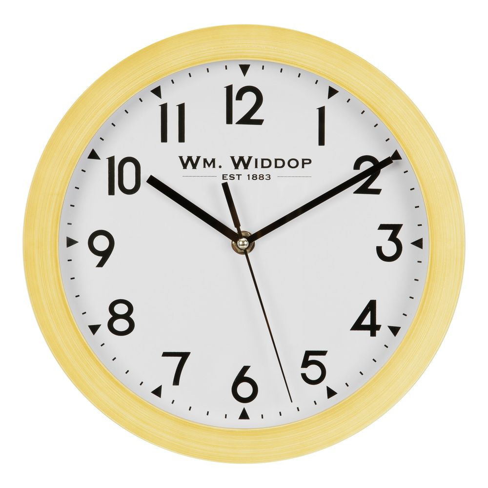 Wood Effect Round Wall Clock, 1 Year Guarantee