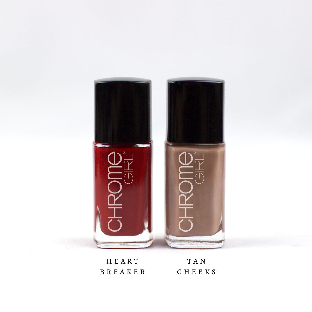 MANI/PEDI SET-Heartbreaker/Tan Cheeks