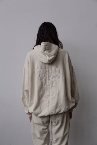 IVORY NSM LOOK BOOK HOODED SWEATSHIRT