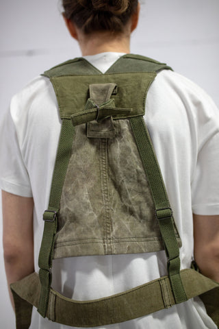 MILITARY OLIVE CANVAS HARNESS VEST