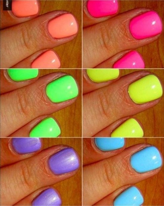 Neon Nail Varnish